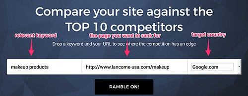 SEO Rambler - The competitive analysis tool by Canonicalized