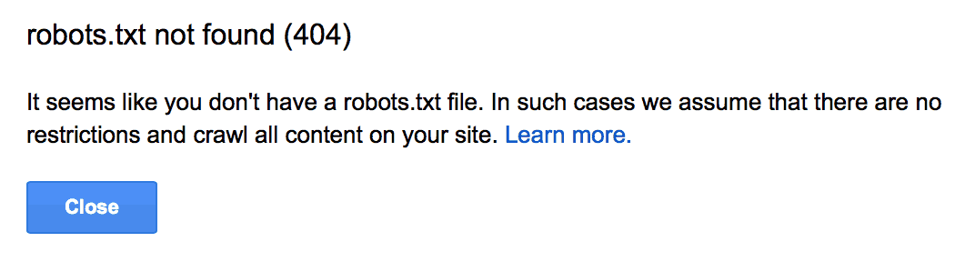 404 robots txt