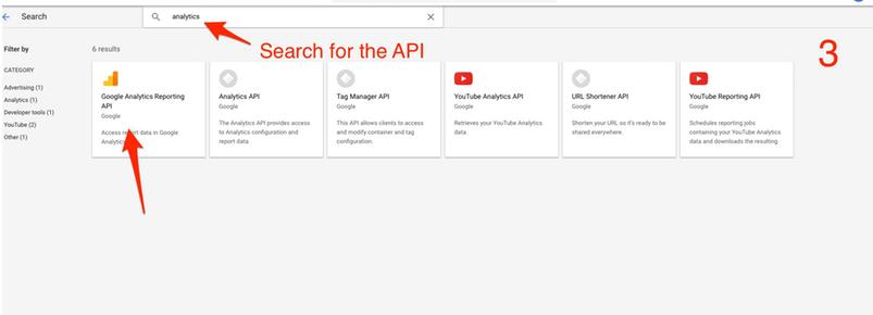 google analytics api 3